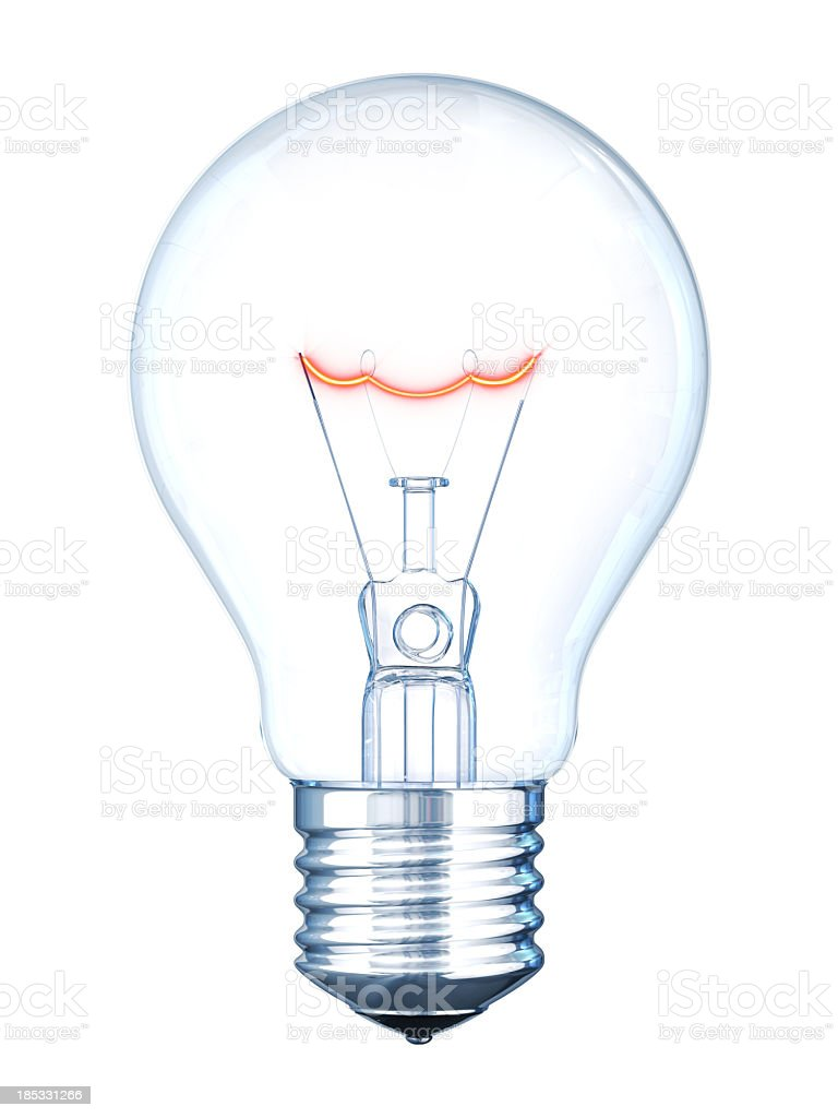 Light Bulb with Hot Filament royalty-free stock photo