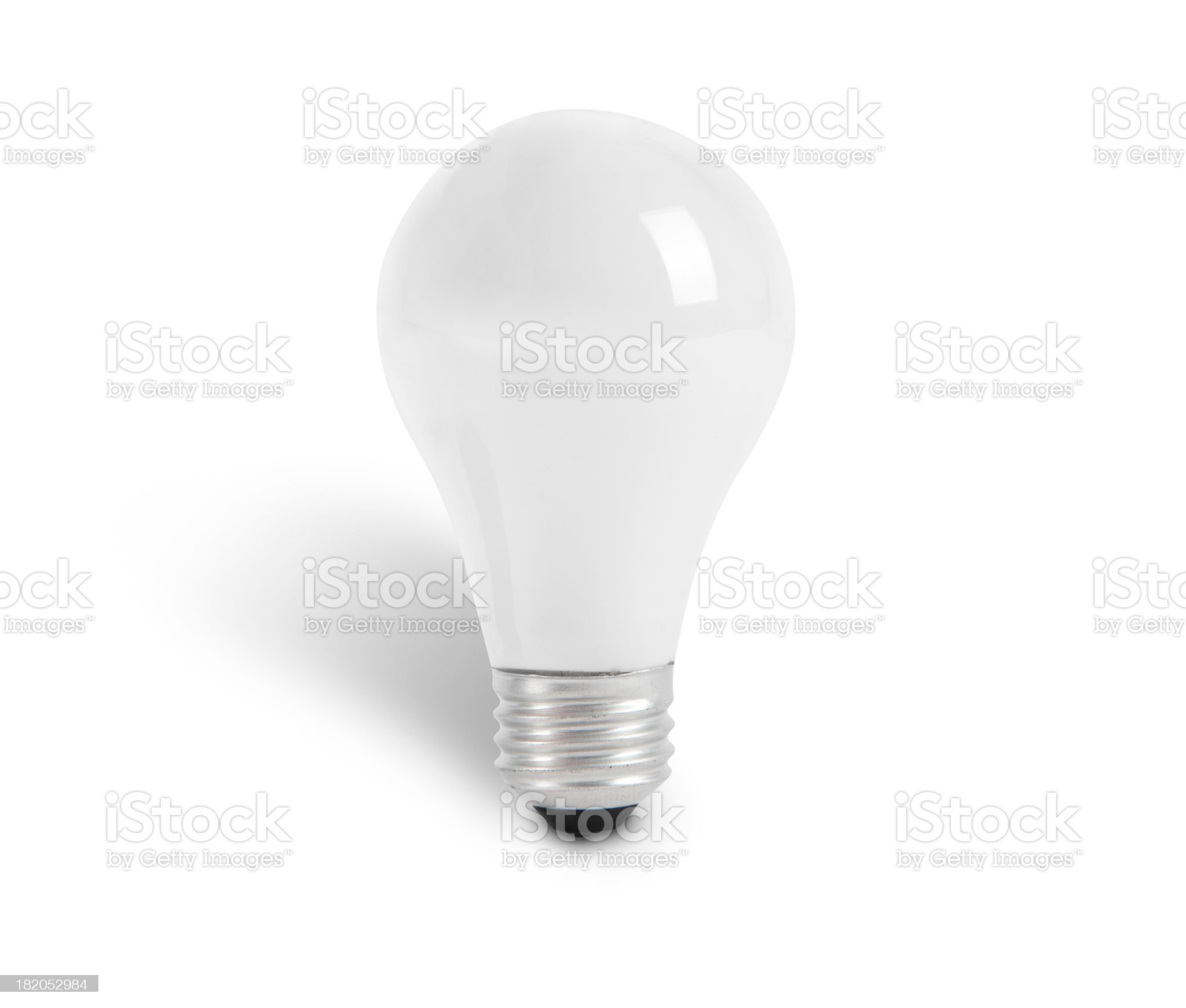 Light Bulb with outline paths royalty-free stock photo