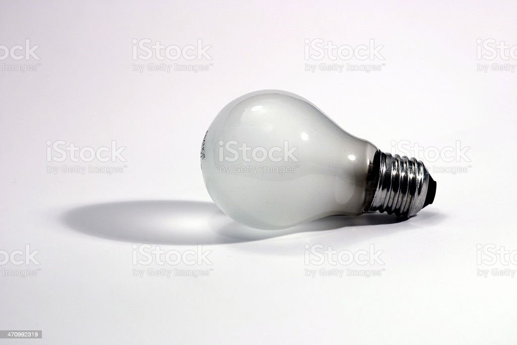 Light bulb with shadow royalty-free stock photo