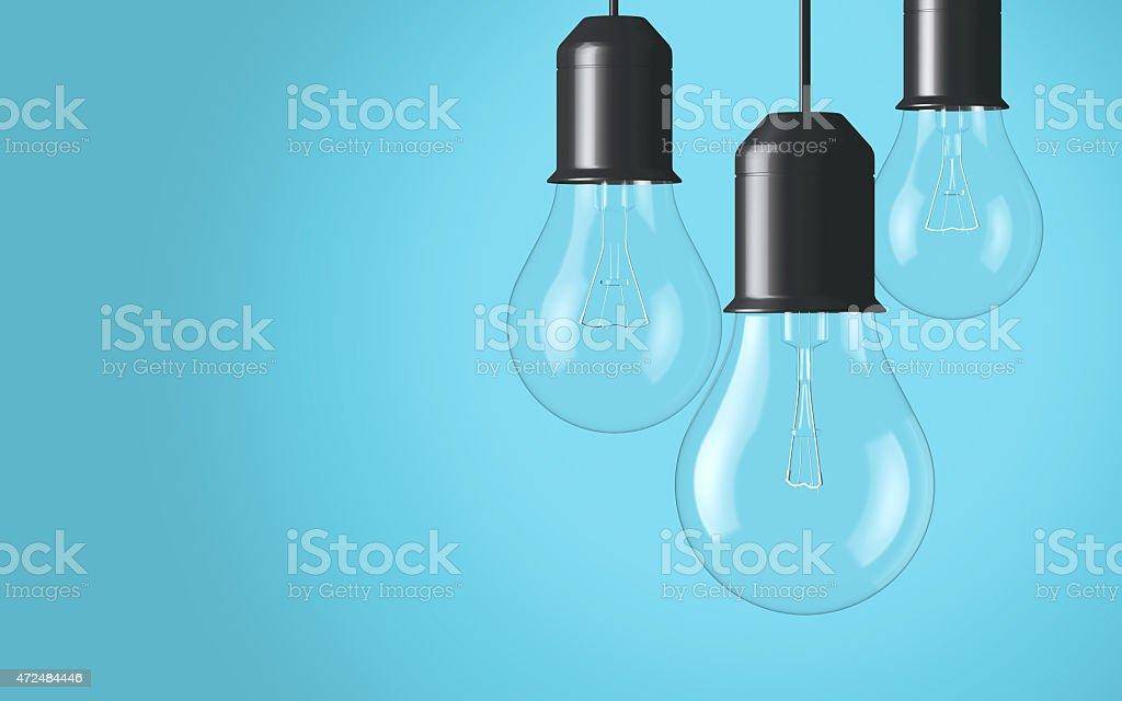Light bulbs background stock photo
