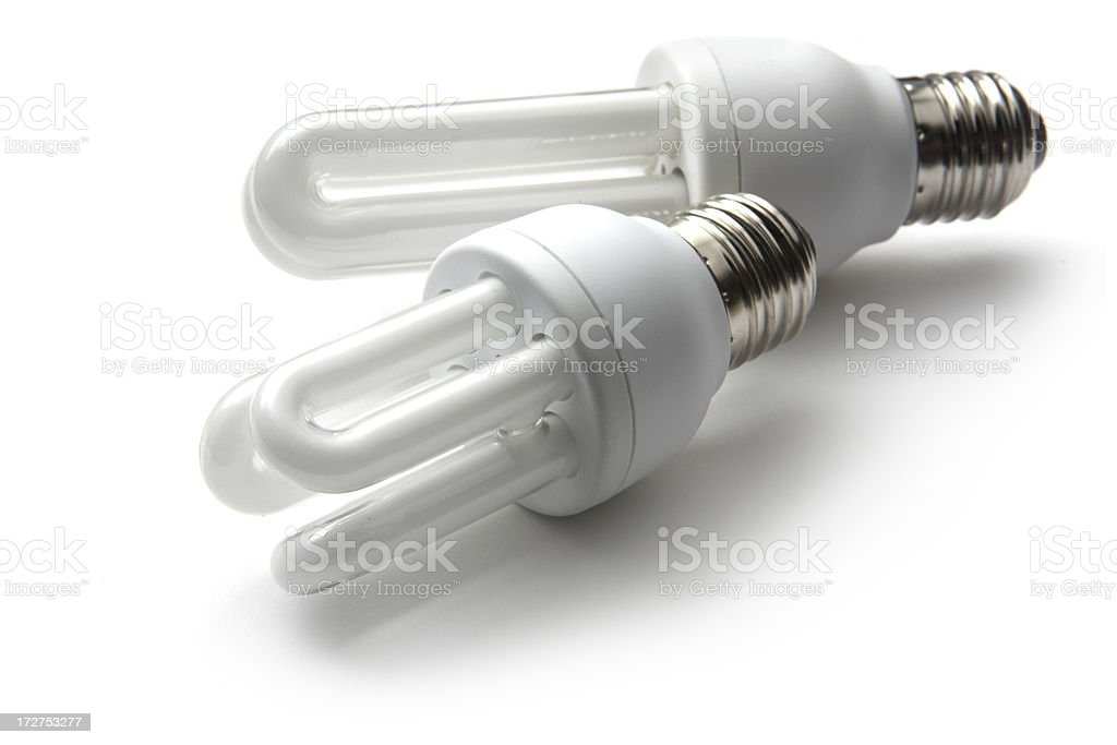 Light Bulbs: Energy Saving Bulb stock photo