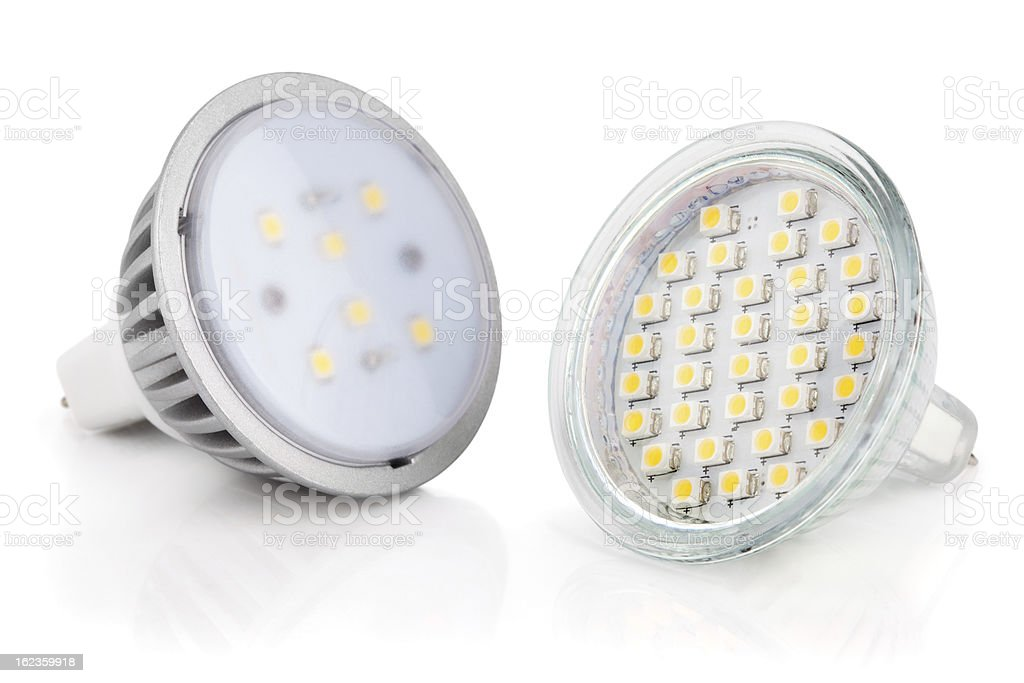 LED light bulbs isolated on white royalty-free stock photo
