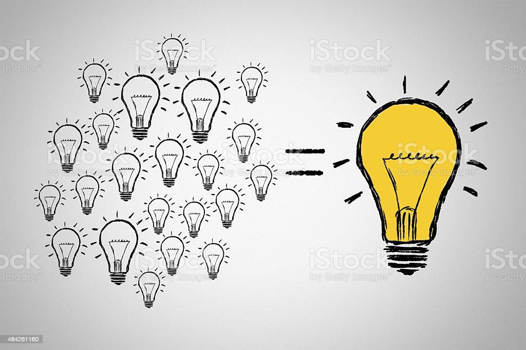 Light Bulbs on white background stock photo