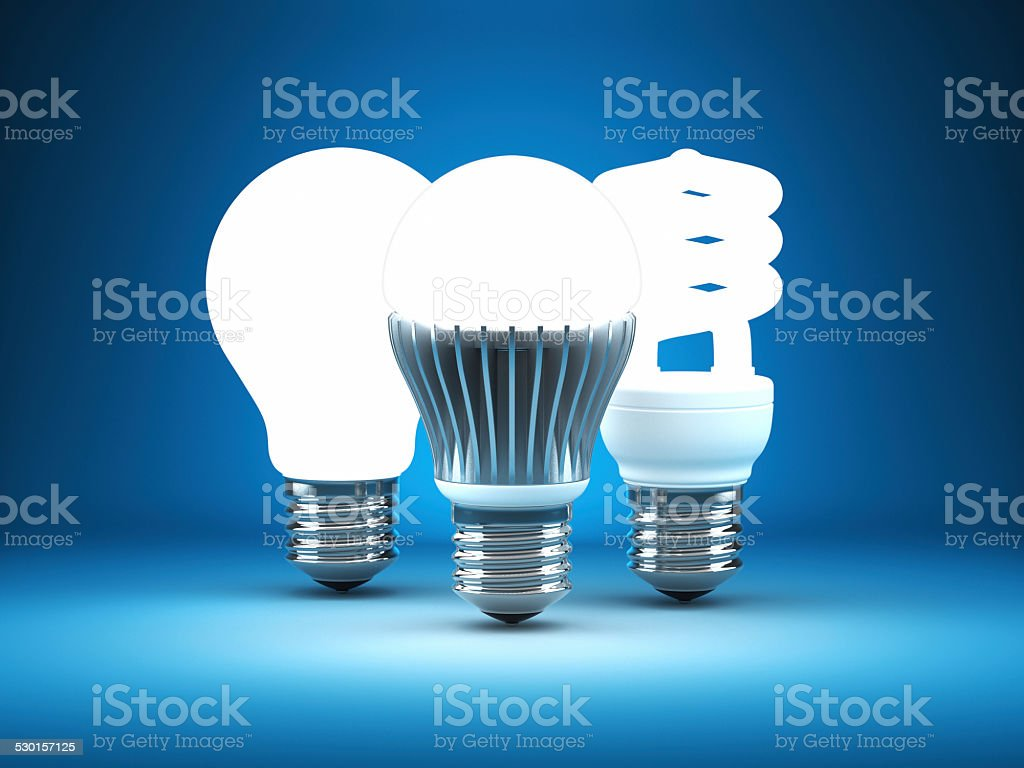 Light Bulbs Progress stock photo