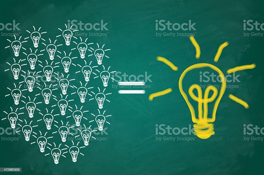 Light bulbs teamwork concept royalty-free stock photo