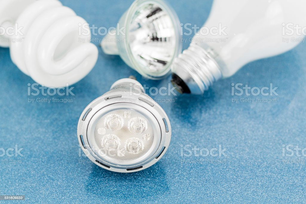 Light bulbs technology stock photo