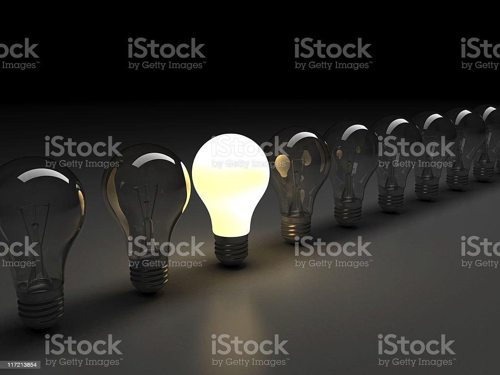 light bulbs v2 stock photo