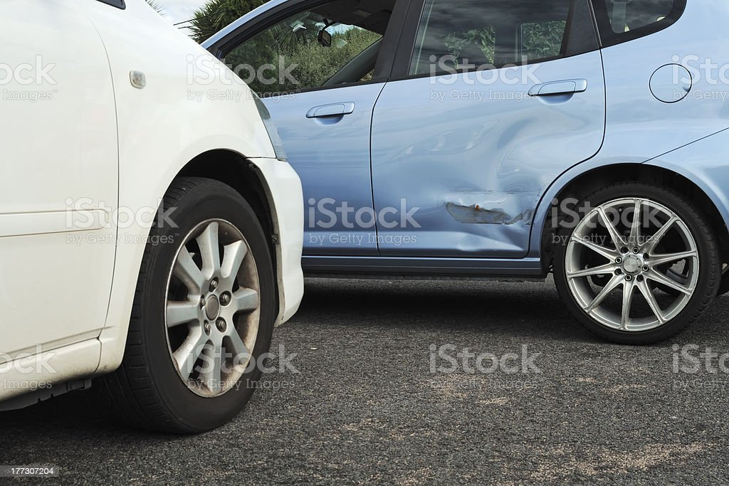 Light car accident stock photo