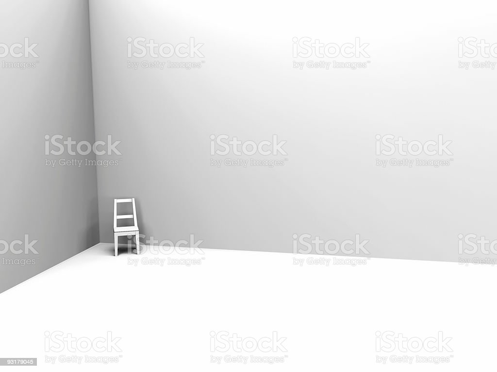 light chair in corner royalty-free stock photo