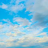 Light clouds in blue sky