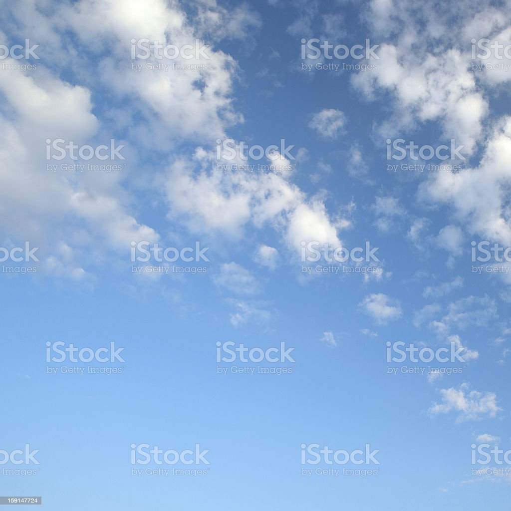 light clouds in the blue sky royalty-free stock photo