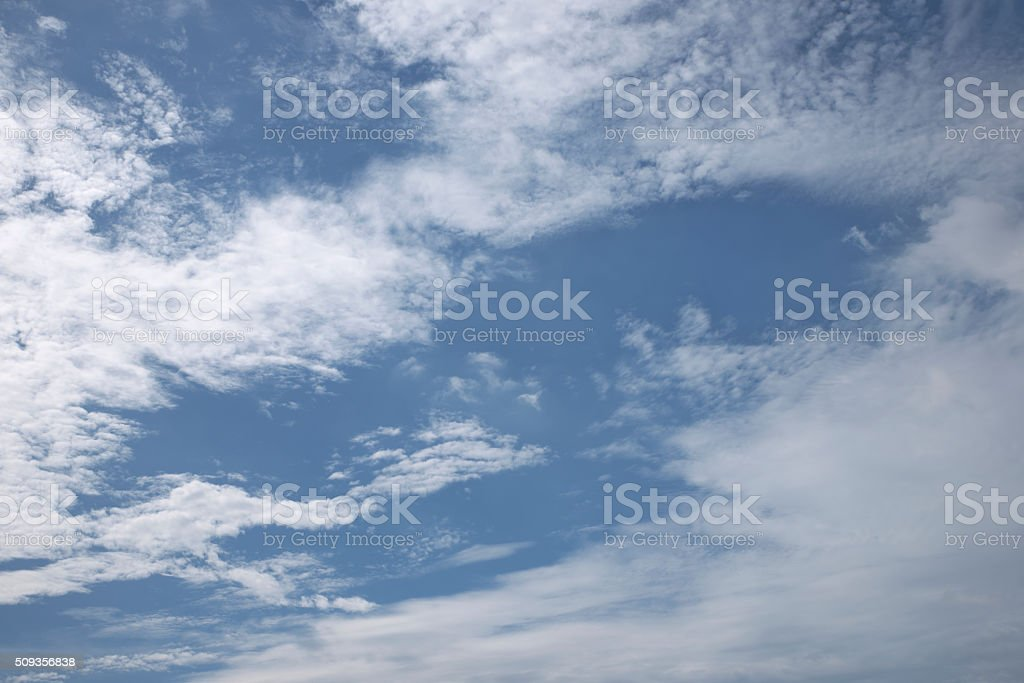 Light cloudy sky stock photo
