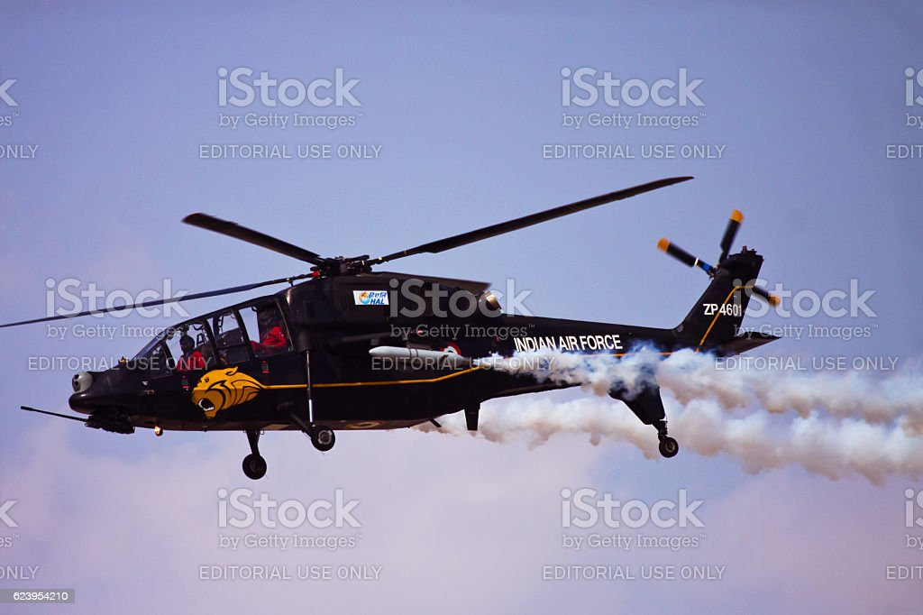 Light Combat Helicopter display flying stock photo