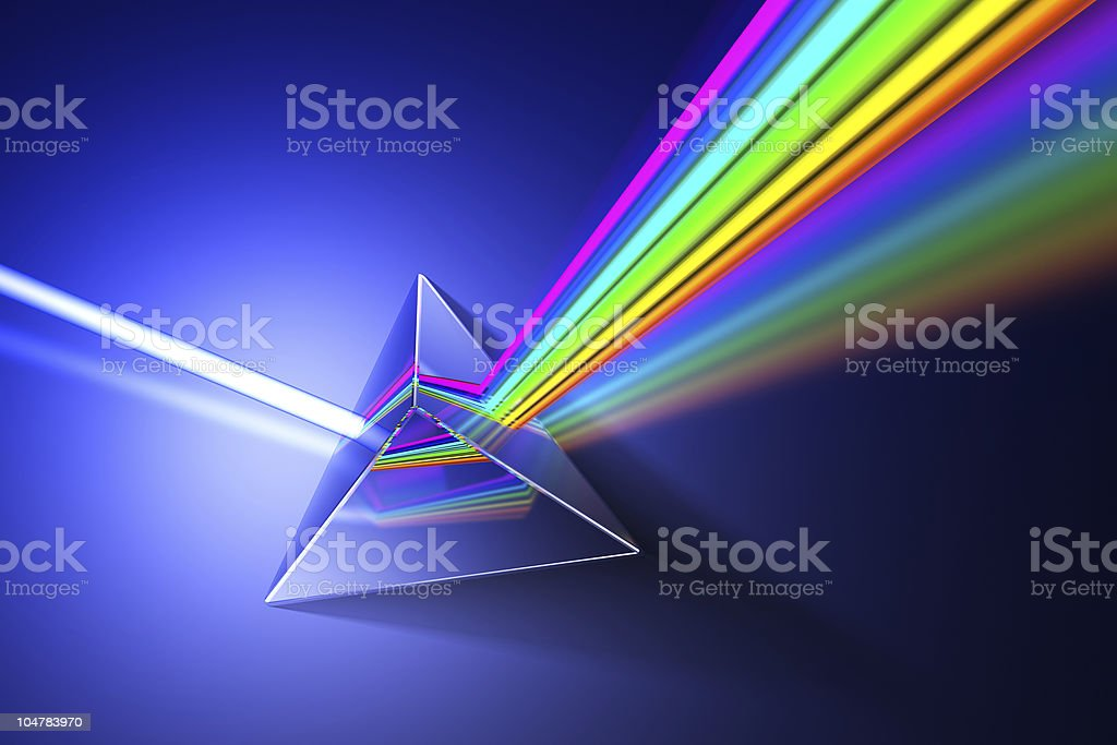 Light dispersion illustration. stock photo