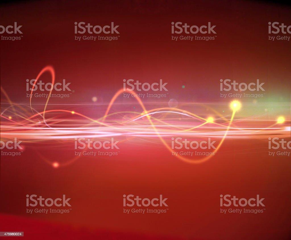 Glowing Light wave pattern.