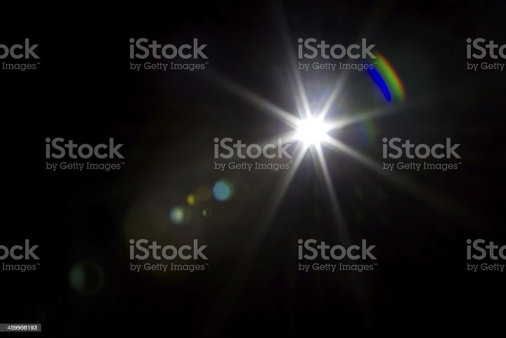 light flare special effect stock photo