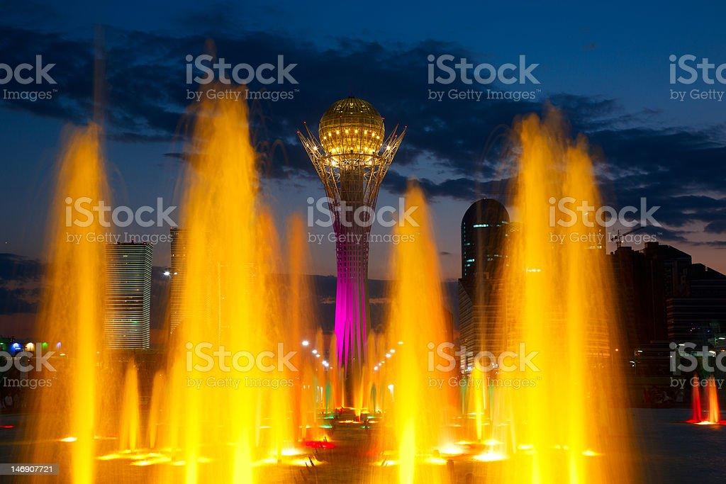 Light fountain. stock photo