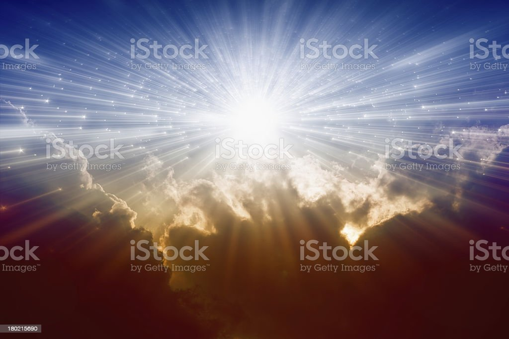 Light from avobe stock photo