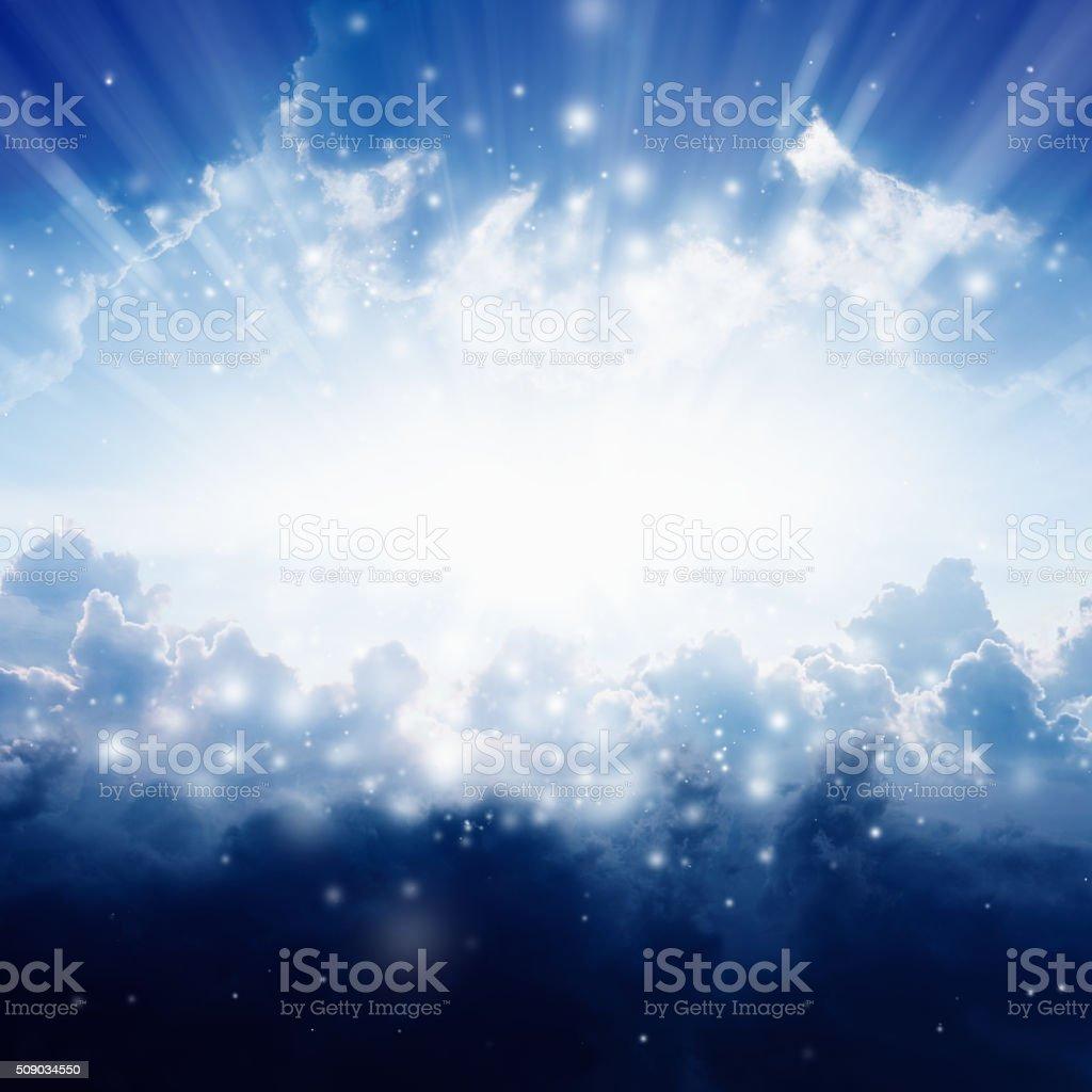 Light from heaven stock photo
