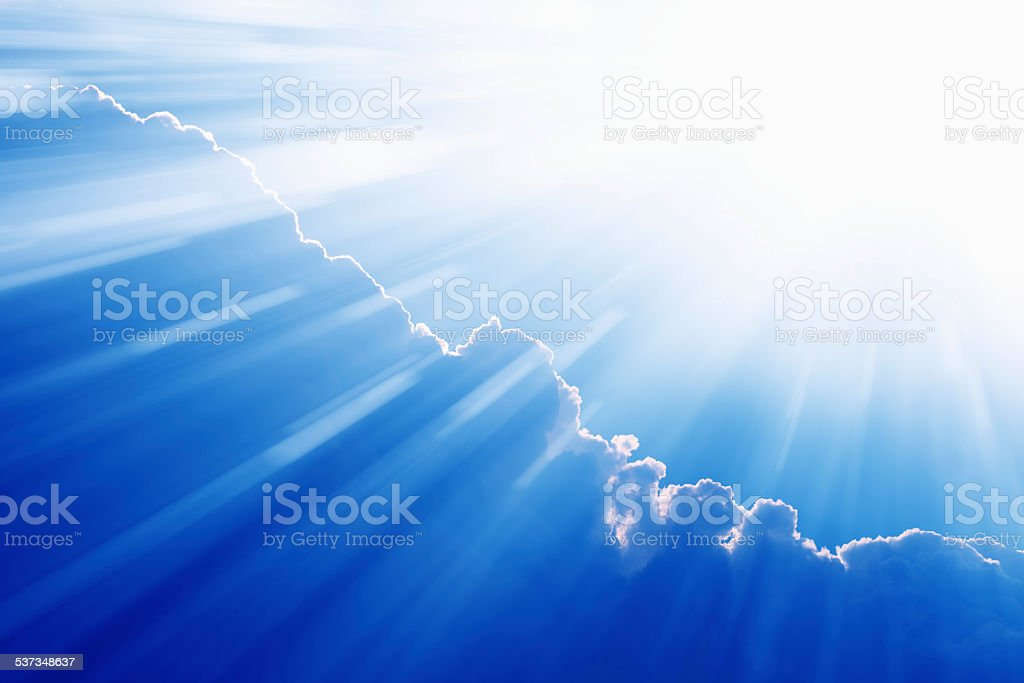 Light from heaven stock photo