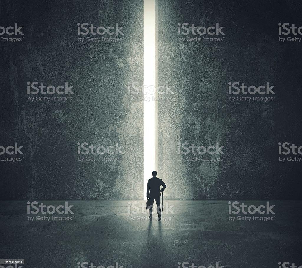 light from the open door stock photo