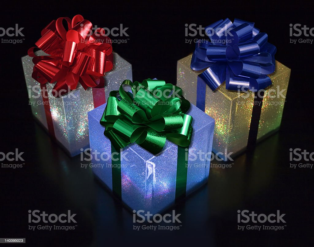 light gift boxes royalty-free stock photo