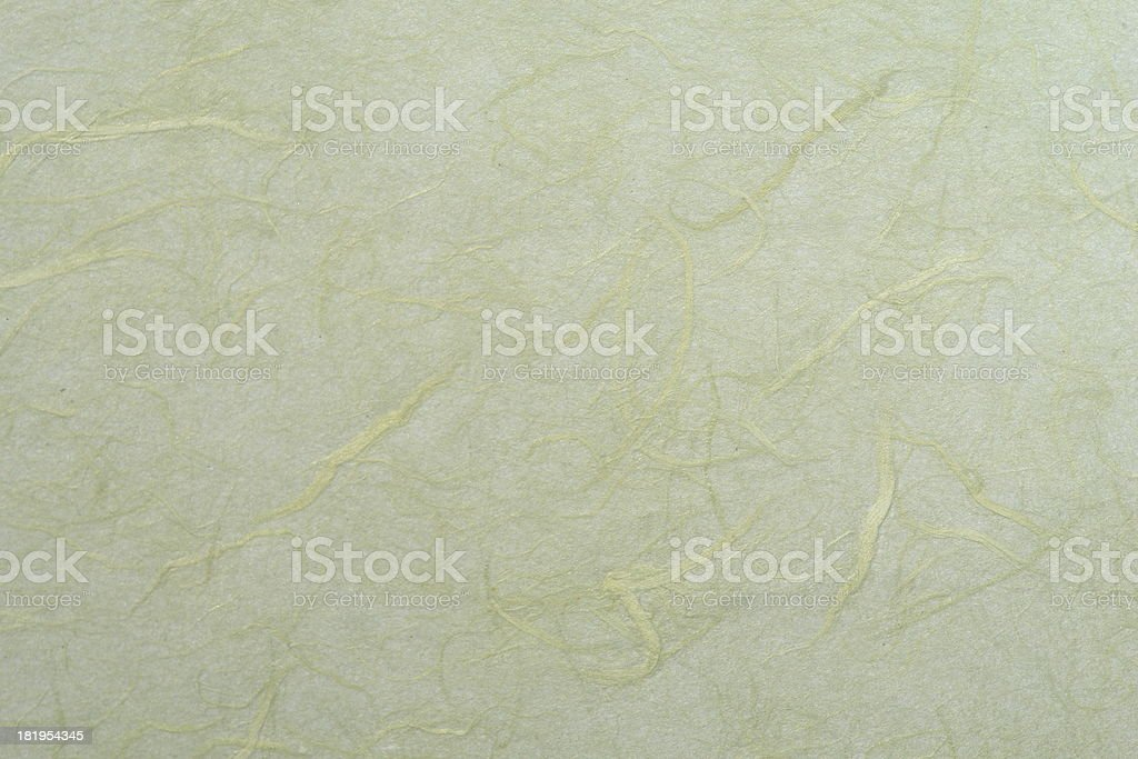 Light Green Mulberry Paper Texture royalty-free stock photo