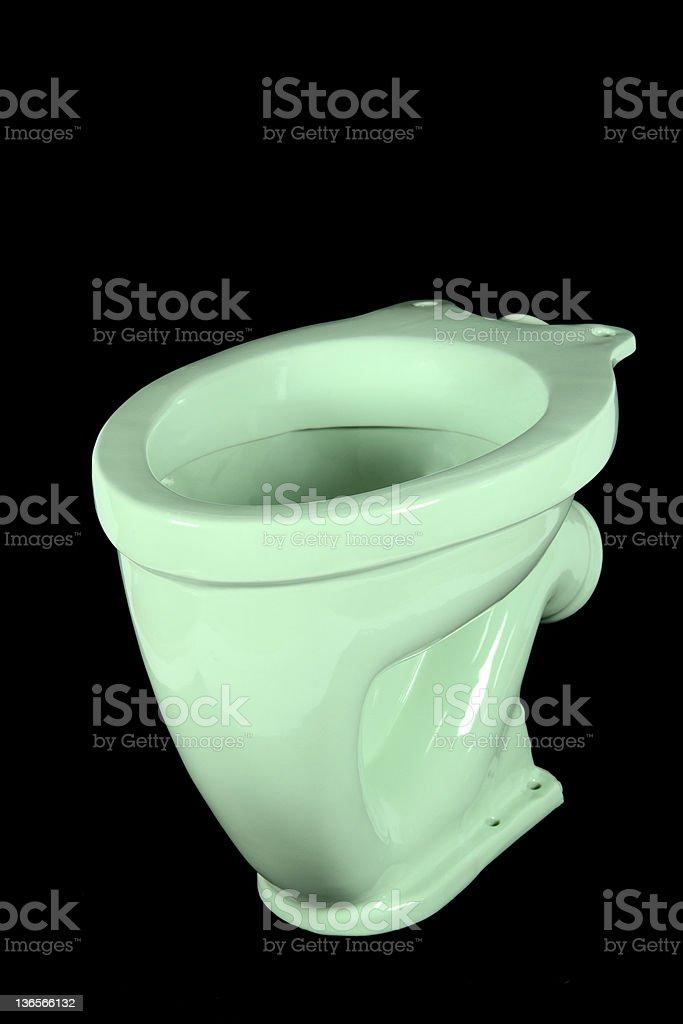 Light green toilet bowl (isolated) stock photo