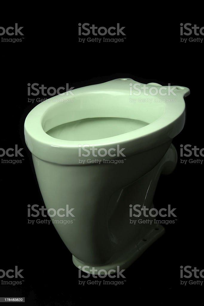 Light green toilet bowl stock photo