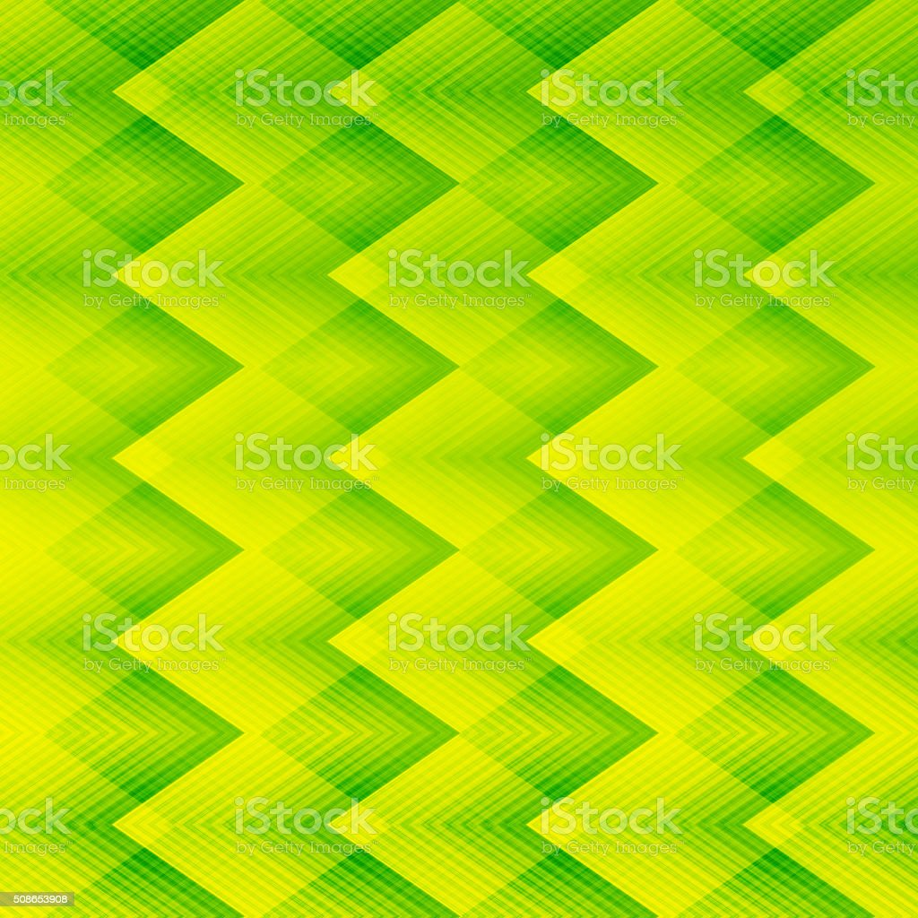 Light green zigzag pattern background stock photo