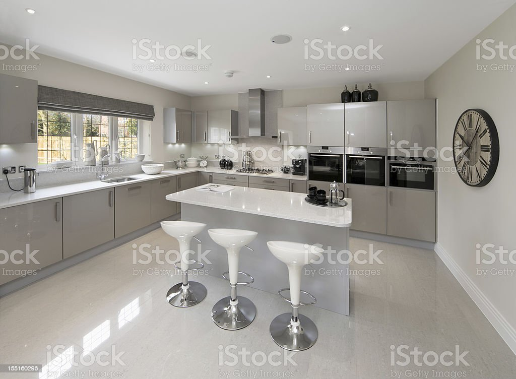Light Grey Kitchen light grey kitchen stock photo 155160296 | istock