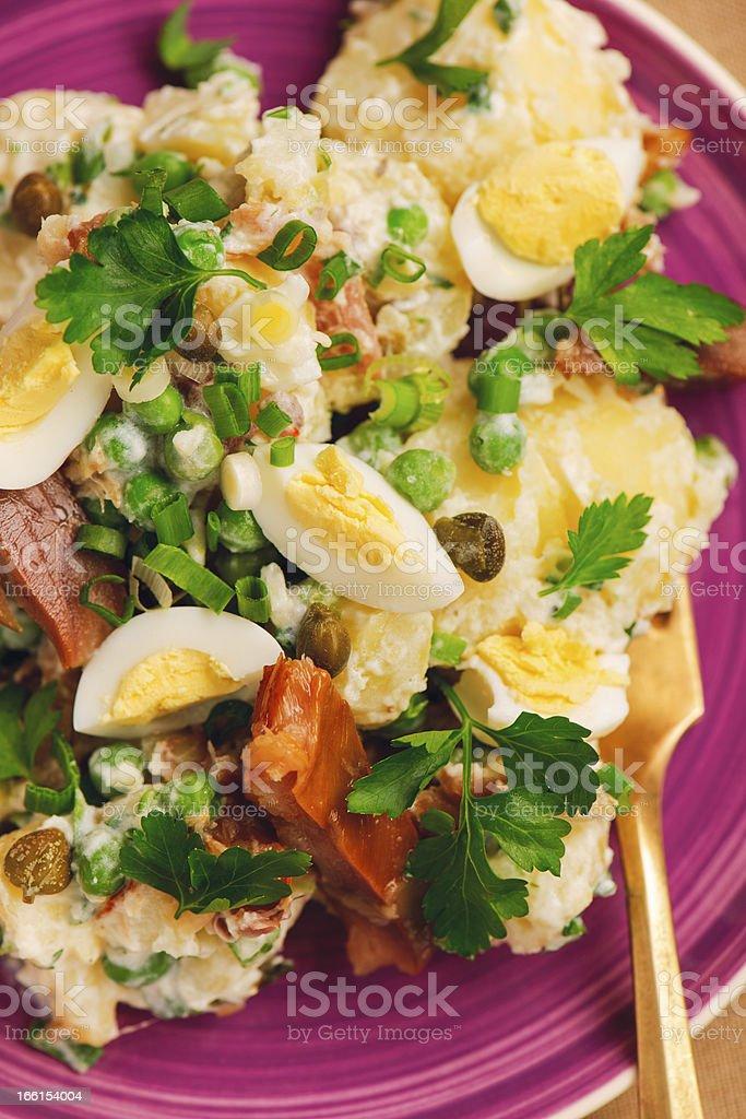 Light, healthy summer salad royalty-free stock photo