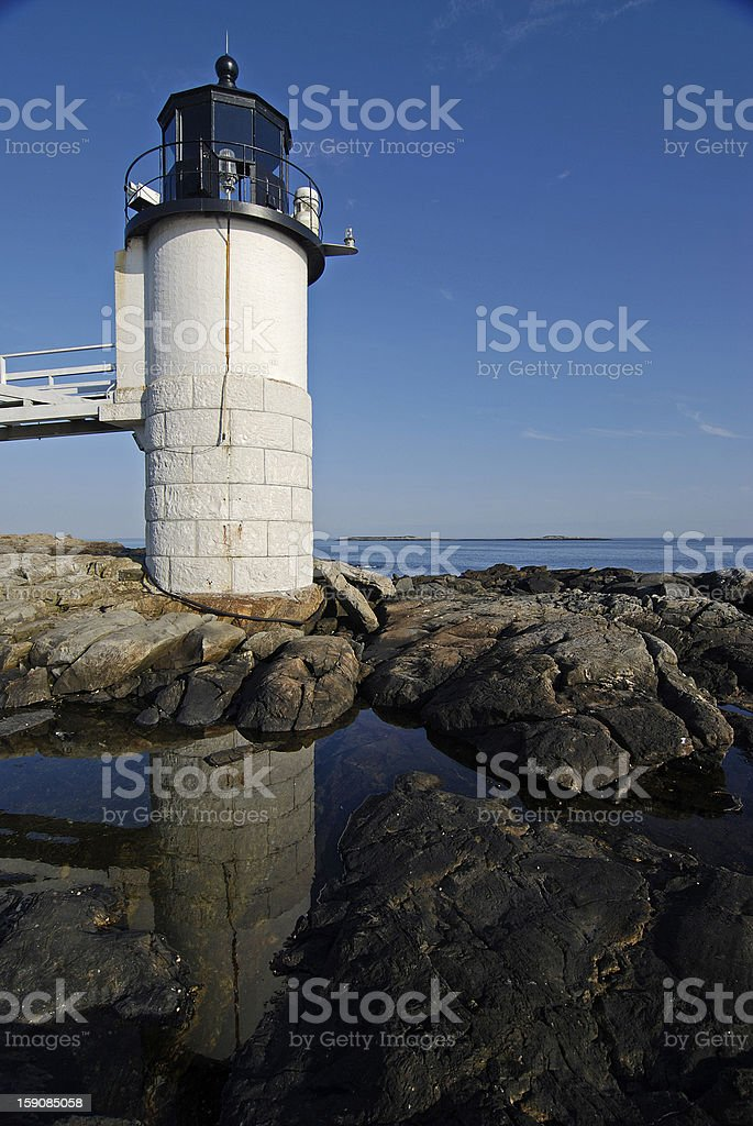 Light House and Reflection stock photo