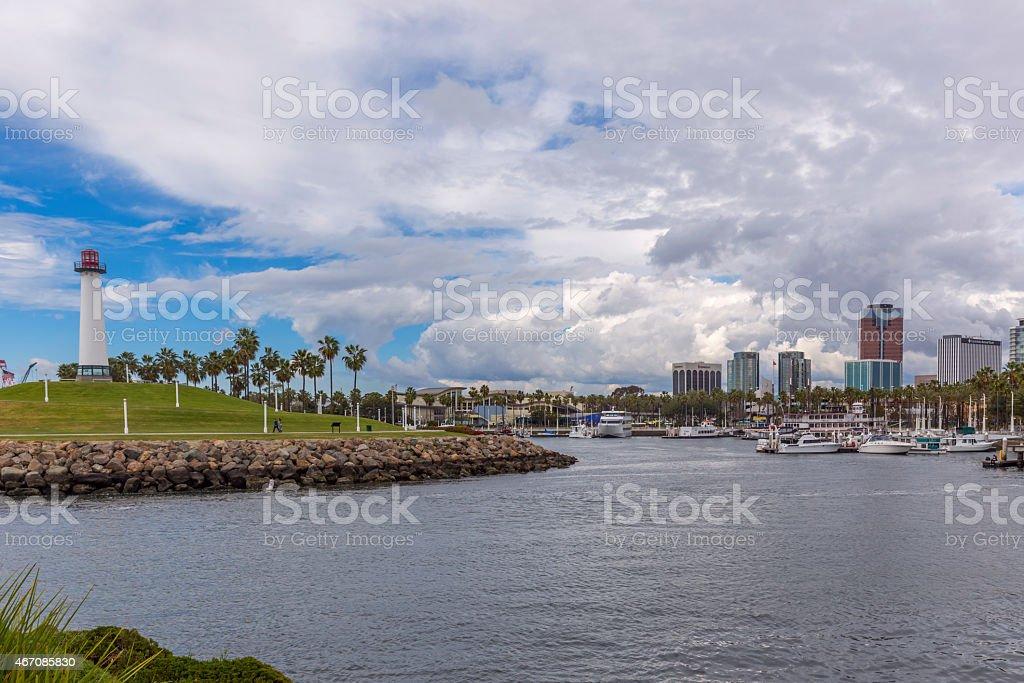 Light House at Long Beach stock photo