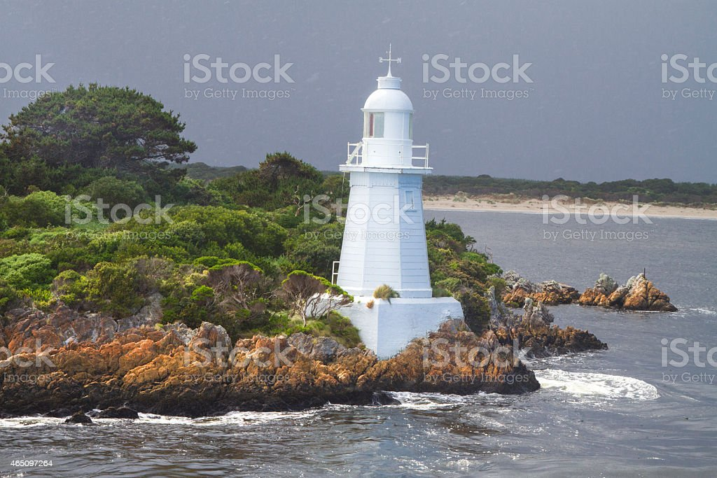 Light House Bonnet Island stock photo