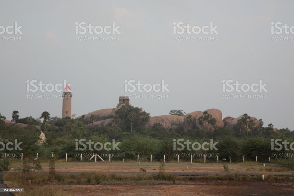 Light house in Mahabalipuram, Tamil Nadu,India stock photo