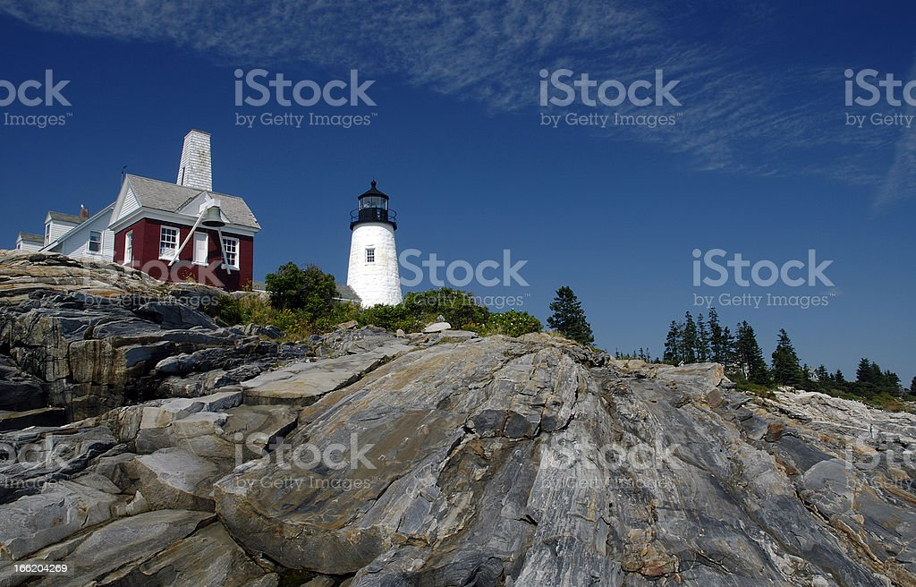 Light House on Rocky Point royalty-free stock photo