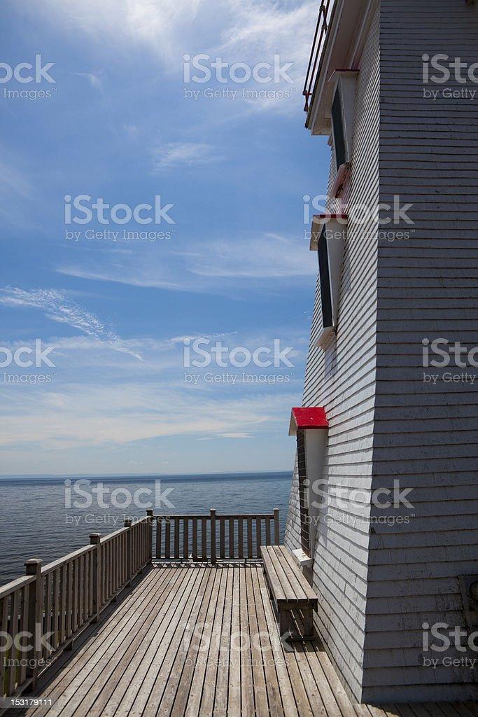 Light House side stock photo