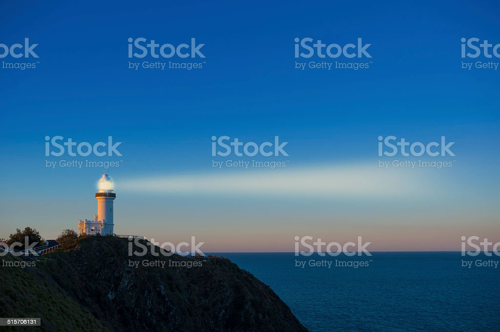 Light house with a beacon stock photo