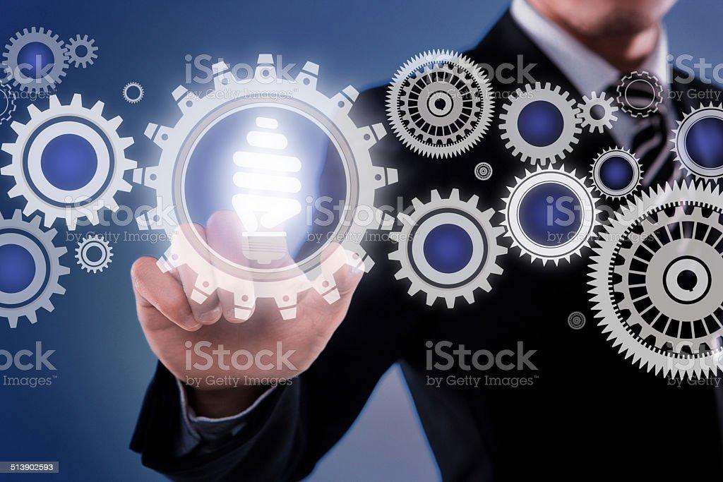 Light idea stock photo