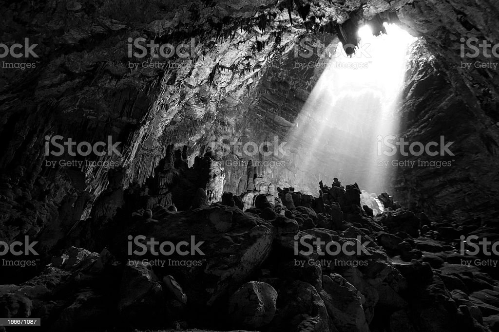 Light in cave royalty-free stock photo
