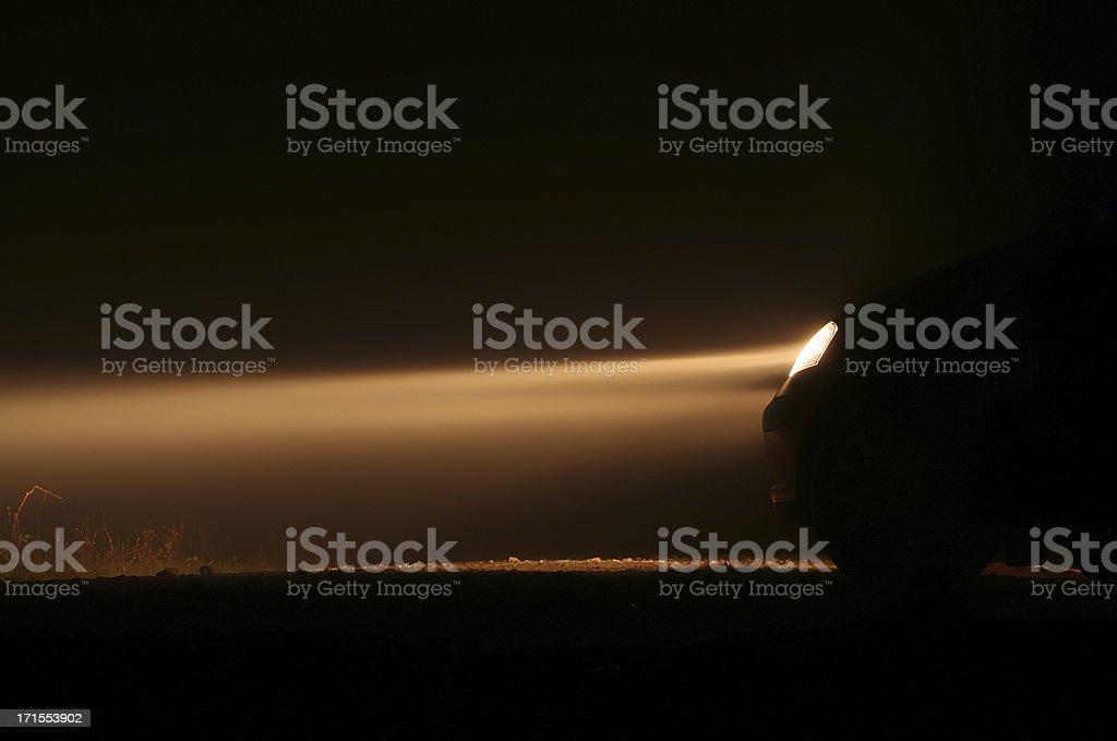 Light in fog royalty-free stock photo