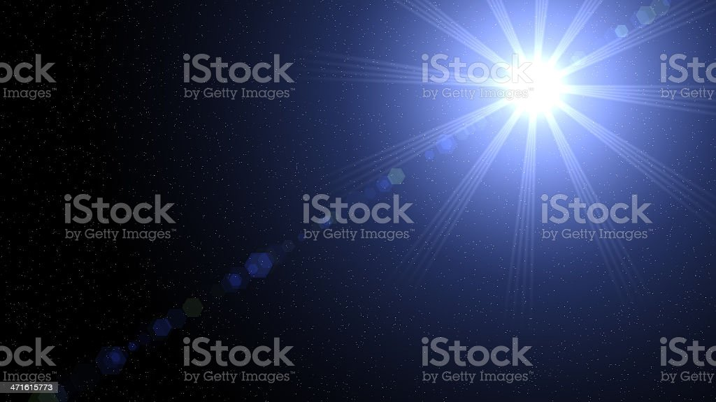 Light in space royalty-free stock photo