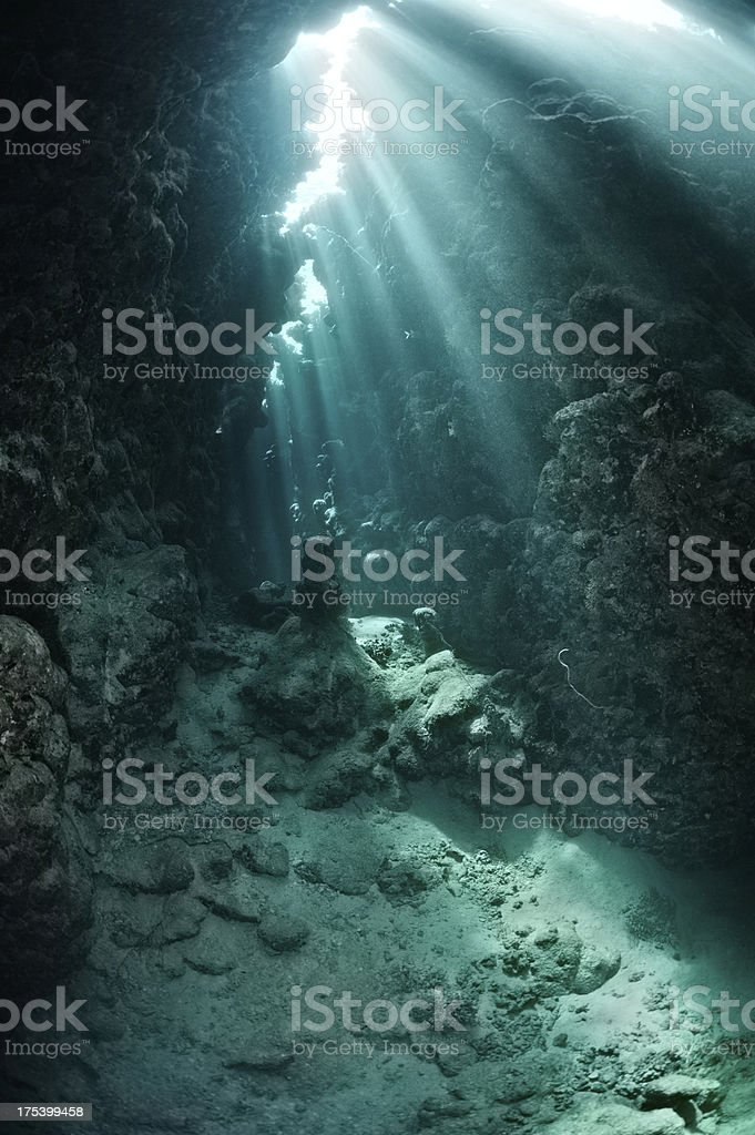 Light in the cave stock photo