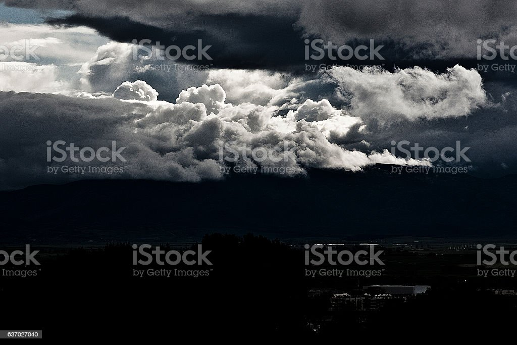 Light in the Dark stock photo