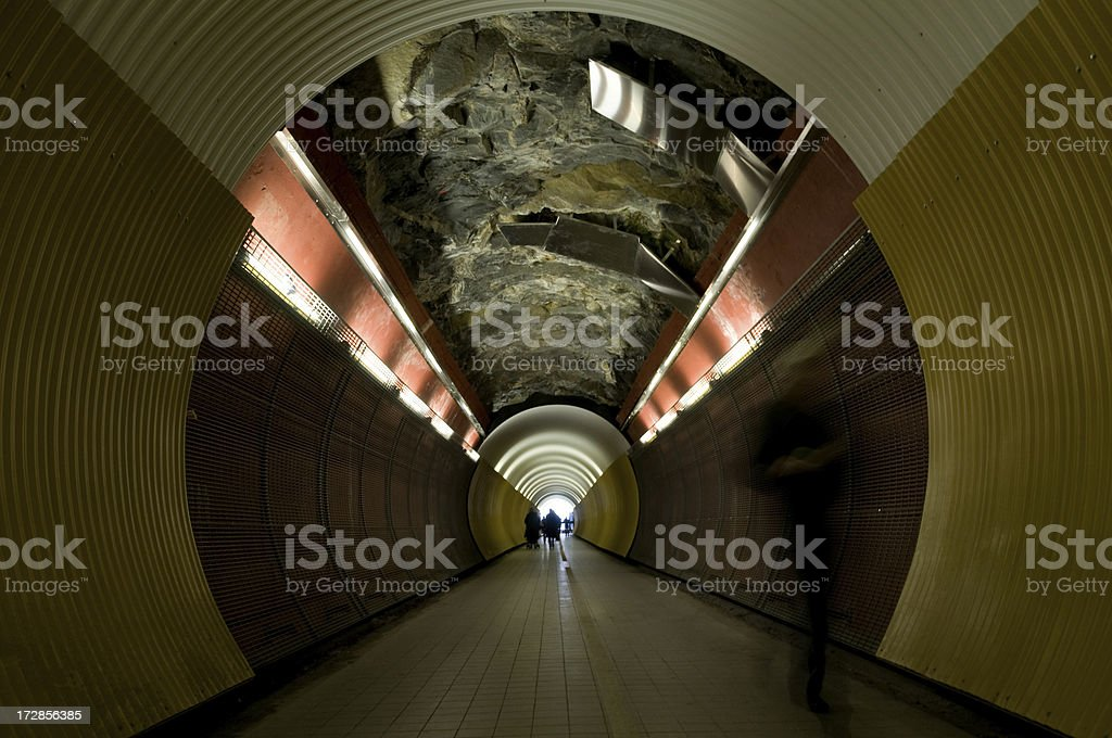 Light in the end of tunnel royalty-free stock photo