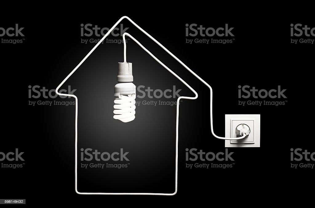 Light in the house stock photo