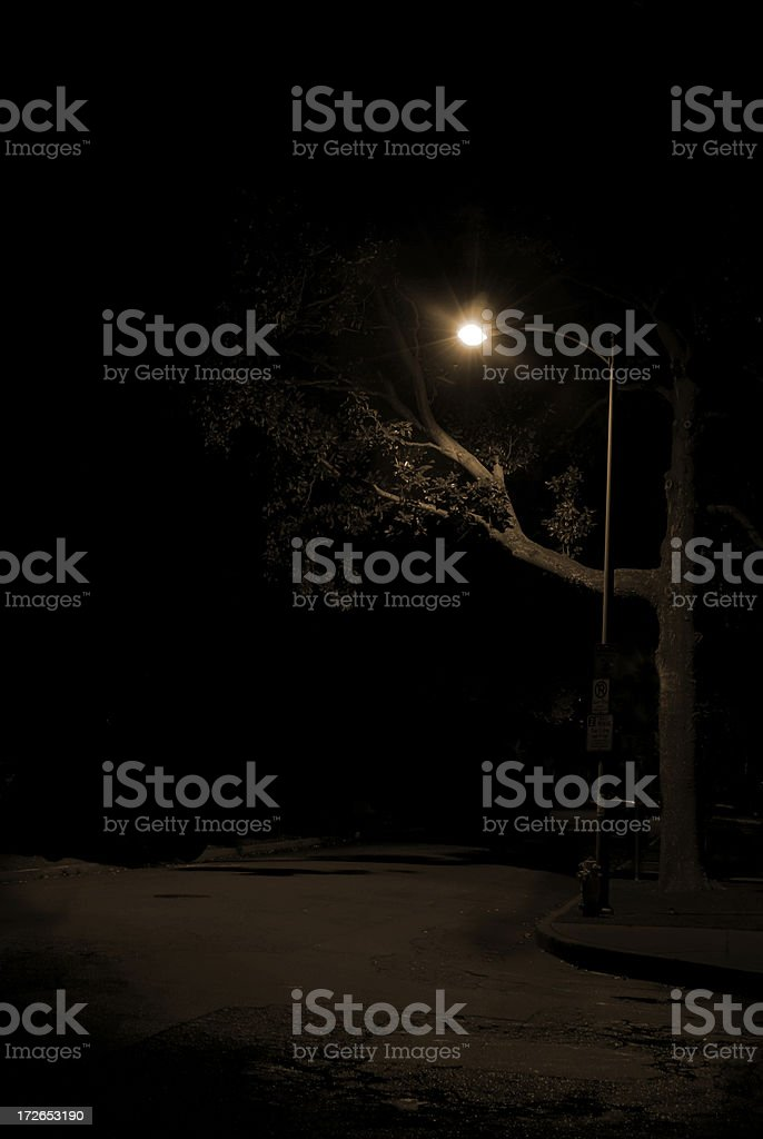 Light in the night royalty-free stock photo