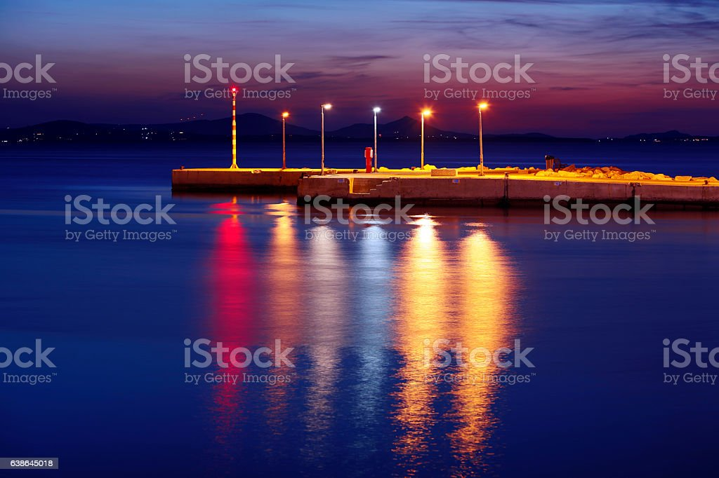 Light in the Night, Safe Haven, Concept Image stock photo