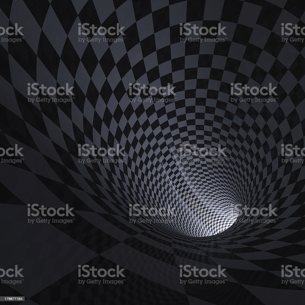 Light inside the tunnel royalty-free stock photo